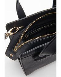Forever 21 - Black Long Strap Faux Leather Satchel - Lyst
