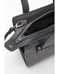 Forever 21 - Gray Long Strap Faux Leather Satchel - Lyst