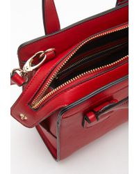 Forever 21 - Red Long Strap Faux Leather Satchel - Lyst