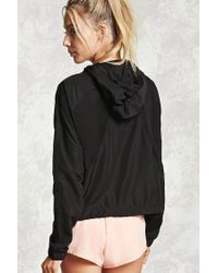 Forever 21 - Black Active Mesh-paneled Jacket - Lyst