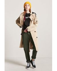 Forever 21 - Multicolor Hooded Trench Coat - Lyst