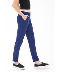 Forever 21 - Blue Classic Woven Trousers - Lyst