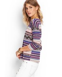 Forever 21 - Multicolor Mixed Tribal Print Top - Lyst