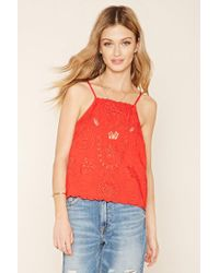 Forever 21 - Contemporary Embroidered Cami - Lyst
