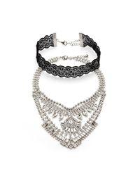 Forever 21 | Metallic Statement Necklace Set | Lyst