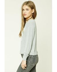 Forever 21 Gray Women's Cuter Than You Graphic Top