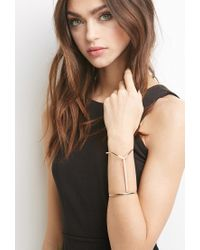 Forever 21 | Metallic Linear V-notch Cuff | Lyst