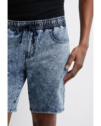 Forever 21 - Blue 's Acid Wash French Terry Sweatshorts for Men - Lyst