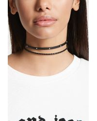 Forever 21 - Multicolor Faux Leather Choker Set - Lyst