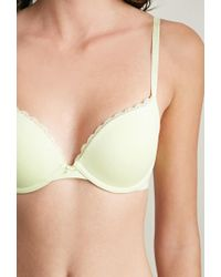 Forever 21 - Green Cotton-blend Push-up Bra - Lyst