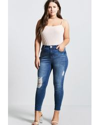 Forever 21 | Multicolor Plus Size Shadow Stripe Top | Lyst