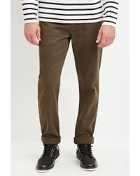Forever 21 - Green Cuffed Slim Fit Jeans for Men - Lyst