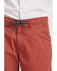 Forever 21 - Brown Cotton Drawstring Shorts for Men - Lyst