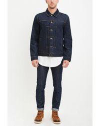 Forever 21 - Blue Classic Denim Jacket for Men - Lyst
