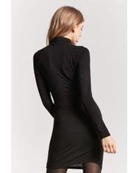 Forever 21 - Black Turtleneck Bodycon Dress - Lyst