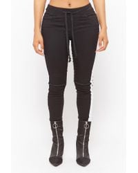 Forever 21 - Black Striped Skinny Trousers - Lyst