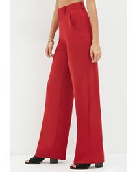 Forever 21 - Red Wide-leg Trousers - Lyst