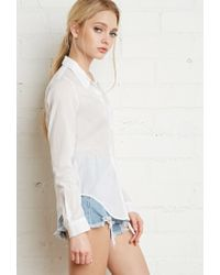 Forever 21 - White Classic Pocket Shirt - Lyst