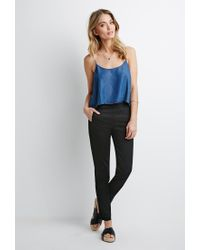 Forever 21 | Black Contemporary Flat-front Chinos | Lyst