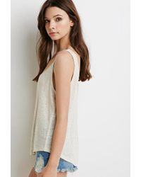 Forever 21 - Natural Sheer Linen Tank - Lyst