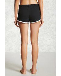 Forever 21 - Black Contrast Trim Pyjama Shorts - Lyst