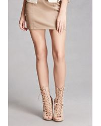 Forever 21 | Natural Faux Leather Caged Stilettos | Lyst