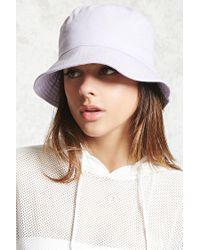 Forever 21 | Purple Cotton-blend Bucket Hat | Lyst