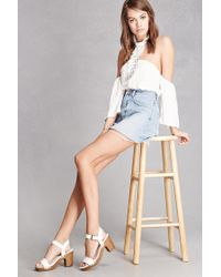 Forever 21 | White Mia Faux Leather Platform Sandals | Lyst