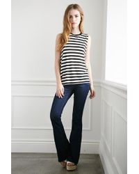 Forever 21 - Natural Striped Muscle Tee - Lyst