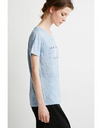 Forever 21 - Blue Perfect Graphic Tee - Lyst
