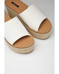 Forever 21 - Natural Faux Leather Espadrille Wedges - Lyst