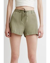 Forever 21 - Green Contemporary Drawstring Chino Shorts - Lyst