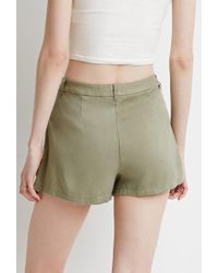 Forever 21 | Green Contemporary Drawstring Chino Shorts | Lyst