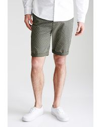 Forever 21 - Green Polka Dot Chino Shorts for Men - Lyst