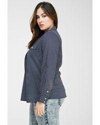 Forever 21 - Blue Plus Size Polka Dot Shirt - Lyst