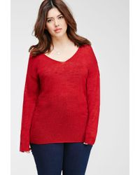 Forever 21 - Plus Size Textured Slub Knit Top - Lyst
