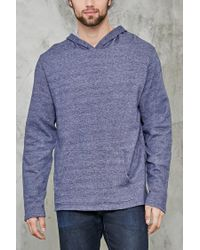 Forever 21 | Blue Marled Fleece Hoodie for Men | Lyst
