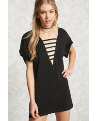 Forever 21 | Black Longline Strappy Cutout Top | Lyst