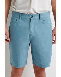 Forever 21 | Blue Cotton Canvas Shorts for Men | Lyst