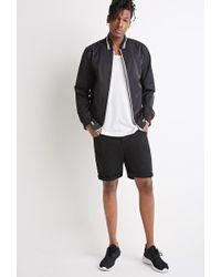 Forever 21 - Black Varsity-striped Baseball Jacket for Men - Lyst