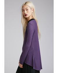 Forever 21 - Purple Vented Thermal Top - Lyst