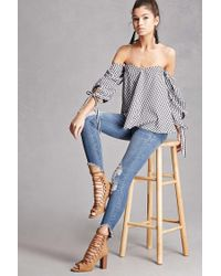 Forever 21 - Blue Faux Suede Lace-up Ankle Boots - Lyst