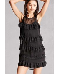 Forever 21 | Black Tiered Mesh Dress | Lyst