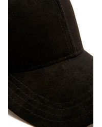 Forever 21 - Black Faux Suede Baseball Cap - Lyst