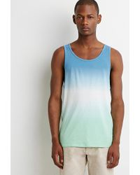 Forever 21 - Blue Ombré Tank for Men - Lyst