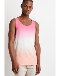 Forever 21 | Pink Ombré Tank for Men | Lyst