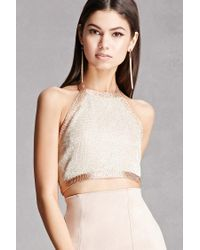 Forever 21 | Honey Punch Metallic Crop Top | Lyst