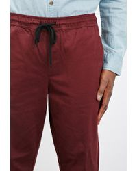 Forever 21 - Purple Chino Drawstring Joggers for Men - Lyst