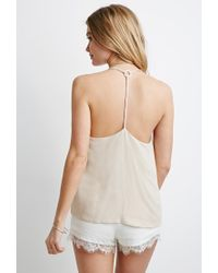 Forever 21 - Natural Braided Y-back Cami - Lyst