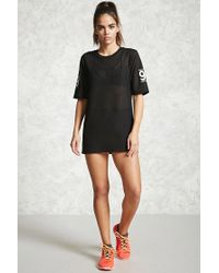 Forever 21 - Black Active Perforated Graphic Top - Lyst